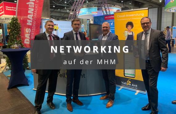 Networking auf der mitteldeutschen Handwerksmesse in Leipzig