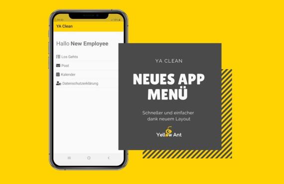 Neue Menüoptik in unserer Mobile App