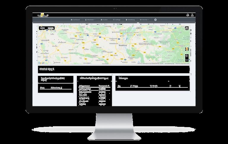 Dashboard Yellow Ant Features software gebäudereinigung