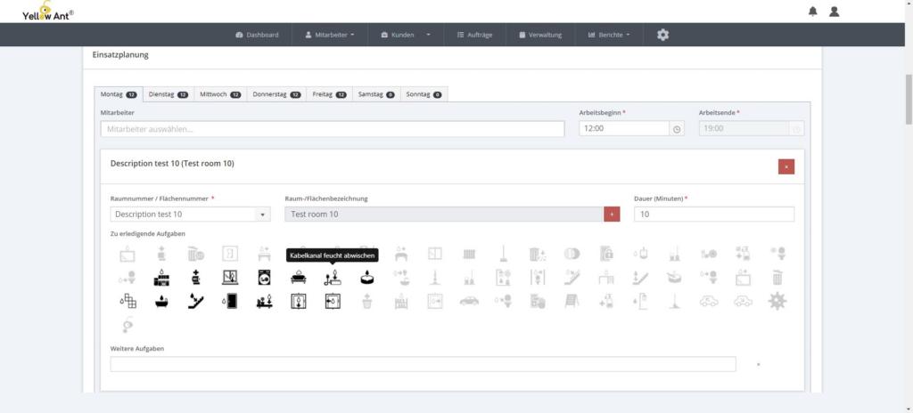 Digitale Einsatzplanung YA Clean software gebäudereinigung