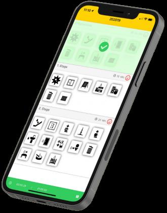Smartphone Auftragsansicht