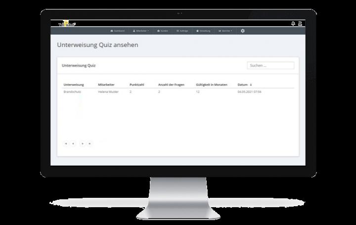 Ergebnisse der Unterweisungsmanagement software gebäudereinigung